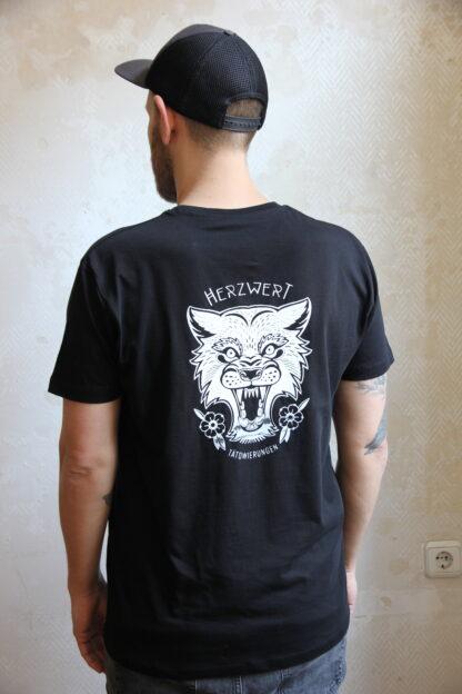 Black Shirt - White Print - Man - back