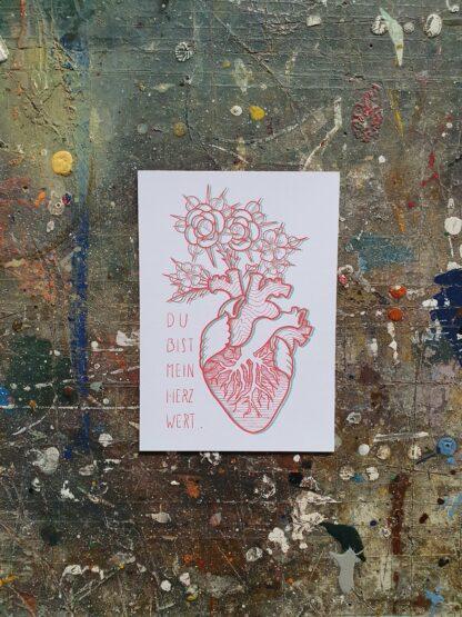 Postcard Herzwert
