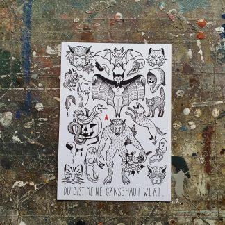 Gänsehaut Postcard